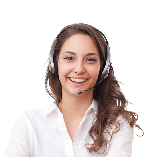 Online teacher wearing a headset